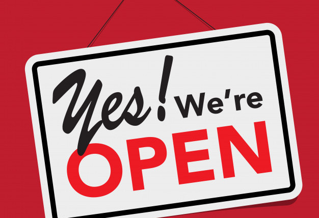 Yes! We are OPEN